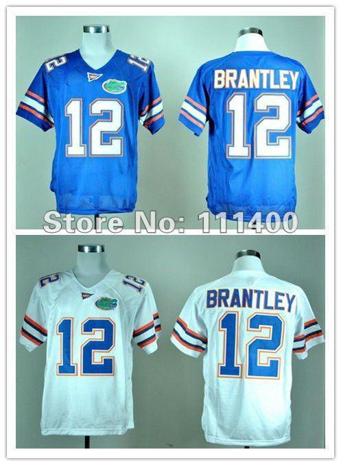 Wholesale Cheap,NCAA football jersey Florida Gators 12 John Brantley Blue White jersey(China (Mainland))