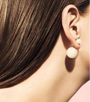 free shipping wholesale100% 925 silver  lady  big&small pearl  earring TR010 order  more than 50 pair  please contact we