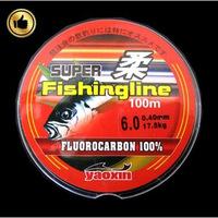 Fluorocarbon Fishing Line Monofilament Carp Wire 100M Carbon Fiber Leader Line Pesca Free Shipping