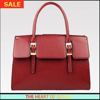 Fashion Handbag PU + Genuine Leather Women Handbag Vintage Solid Belt Messenger Bag Zipper Bag Free Shippping B104