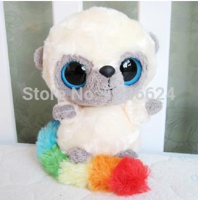 Yoohoo Friends big eyes small monkey with colorful tail,Fabrics animal toy,stuffed Plush Cute gift for Child,birthday gift(China (Mainland))