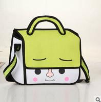 Cartoons bag cartoon 2014 3d three-dimensional fashion casual bag personality women's handbag