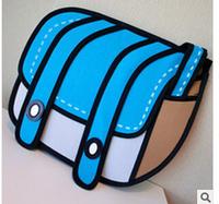 2014 3d three-dimensional bag cartoons camera bag fashionable casual one shoulder handbag