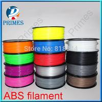 3d printer filaments PLA/ABS 1.75mm/3mm 1kg plastic Rubber Consumables Material MakerBot/RepRap/UP/Mendel  1kg Spool