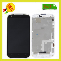 Quality Guaranteed LCD Display + Touch Screen Digitizer Full Assembly with White Frame and Tools for ZTE N986, Free tools
