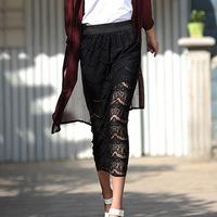 2014 New Women's Summer Autumn Hollow Skirt Lace irregular Gauze skirts women Fashion skirts  RD-181