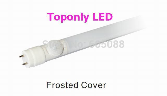 ETL listed! 2ft 60cm t8 led sensor tube,9w human pir sensing lamp,AC100-265v, clear/frosted cover,5 year warranty,24pcs/lot!(China (Mainland))