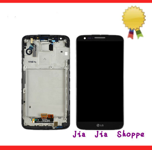 For LG 20pcs/lot LCD LG Optimus G2 D802 D805 DHL EMS For LG Optimus G2 D802 D805  original lcd for lg optimus g2 d802 lcd touch screen with frame black and white color dhl free shipping