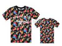Defend 2014 Good Quality  leopard cement flower camouflage stripe DESIGN Men Round Neck Pure Cotton T Shirt Online for sale