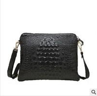 Hotselling new 2015 fashion women handbag genuine leather women crocodile clutch bag shoulder bag messenger bag day clutch