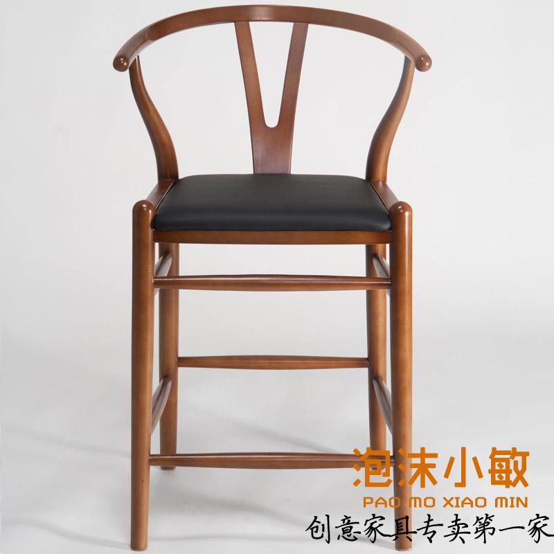 Cadeira Wishbone fezes bar fezes bar bar de madeira de móveis de altura bar fezes cadeira mobiliário de design ideias(China (Mainland))