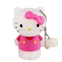 Hot Sale Cartoon USB Flash Drive Hello Kitty 5 Colors Enough Capacity 4GB 8GB 16GB 32GB USB Flash Drive 2.0 Memory Stick Card