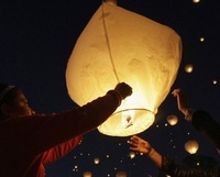 1000 Pieces Pure White Paper Chinese Lanterns kongming flying wishing sky lantern Fire Candle Lamp for Birthday Wedding Party