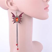 Crystal bat lace women fashion earring gold ear tops designs wedding gift aliexpress china free shipping