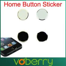 Hot-sale 2Pcs Black+ 2Pcs White Metal Aluminum Home Button Keyboard Keypad Sticker For iPhone 5 5S Wholesale Free Shipping(China (Mainland))