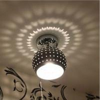 Chrome color LED project shadow modern IKEA fashion living room bedroom corridor ceiling lamp light