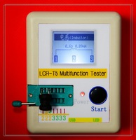 Free shipping, LCR-T5 graphical multi-function tester capacitor + inductance + resistor + SCR + transistor diode + mos