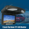 9 Inch Auto Car Flip Down Monitor Overhead Ceiling TFT LCD Monitor Roof Mount Player Mobile