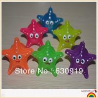 36pcs Free shipping led  flashing starfish cartoon ring  toys for party
