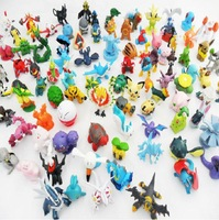 New Fashion  Lovely Pokemon Monster Mini Action Figure 4-6cm Toys, Pet Pokemon Pikachu Pokemon,25Pcs/Lot, Random Free Shipping.