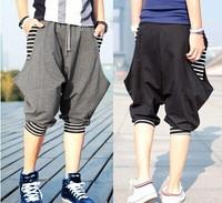 2014 hot sale summer fashion striped loose casual men sport  harem capris