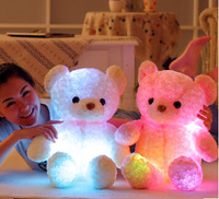 freeshipping 40cm Luminous teddy bear cuddly teddy bear bear large puppets doll birthday gift