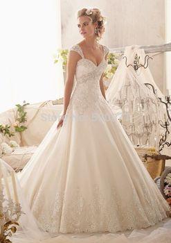 Романтический онлайн милая с плеча съемный белого цвета слоновой кости свадебное платья свадебные платья бальные платья на заказ сделать бесплатная