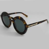 Brand Vintage Designer Fashion Original Sunglasses For Women KW3 Round Sun Eye Glasses Oculos Do Sol Feminino Outdoor Sunglass