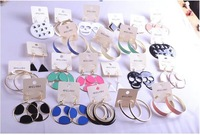 freeshipping! 2014 new arrival , Europe and the United States of big     earrings   mixed lot, 100pair/lot,fashion earring,