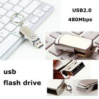 Hot!! Silver USB Flash Drive Metal 8GB USB 2.0 1.1 Pendrive Memory Stick Pen Drives Micro Data USB16GB Key 1GB,2GB,4GB,64GB,32GB