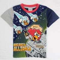 New Kids Summer 2014 New Cartoon Pattern Boys Casual Cotton Short-Sleeved T-shirt Free Shipping