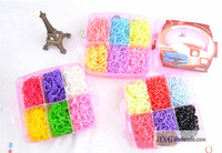 rainbow bracelet Diy Bracelet Small Plastic Box Set(3600 Bands) Jingwholesale.com