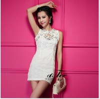 Ae113016 real pictures with model gentle fashion beading slim hip dress