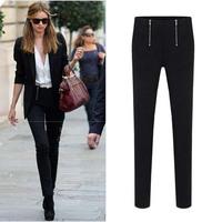 Vintage London Women long Pants Pencil Pants Feet Pants Casual and Skinny Capris 313