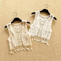 2014 New women's Bohemian summer shawl cardigan women Plus hollow-out sweater hook flower FREE SHIPPING