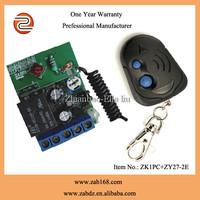ZK1PC+ZY27-2E,Universal,Mini remote control,80M,1channel,Mini size,interlocking,with time delay function