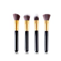 4 PCS Professional Portable Cosmetic Makeup Brushes - Black
