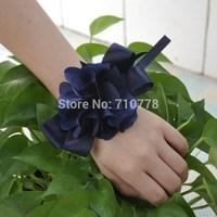 Bride bridesmaids wrist flower hand flower wedding wedding supplies chiffon flower