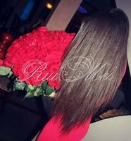 100% brazilian virgin human hair wholesale cheap full lace black silky straight wig with baby hair bangs for african americans