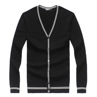 2014 mens sweaters european style v-neck sweater cardigan 8 colors with stipes and buttons hot sale long sleeve free shipping
