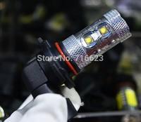 2 x 9006 Cree 10 LED HB4 50W Lamp car Fog Head Bulb auto Vehicles parking Turn Signal Reverse Tail Daytime Running Lights White