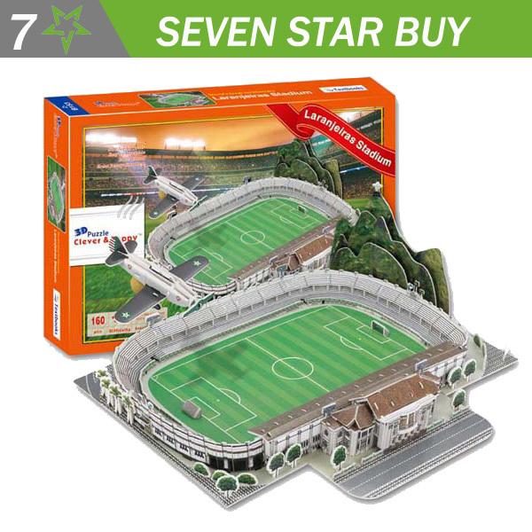 2014 New clever&happy 3D Puzzle Model Football Stadium of Laranjeiras stadium(China (Mainland))