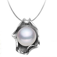 100% Natural Freshwater Pendant White Pink Purple Color Cultured Pearl Handmade Pendants Elegant Women Gifts Get 925 Chain 45cm
