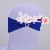 free shipping royal blue spandex band with crown buckle  for weddings