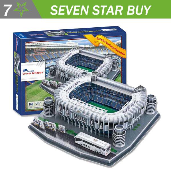 2014 New clever&happy 3D Puzzle Model Football Stadium of Estadio santiago Bernabeu(China (Mainland))