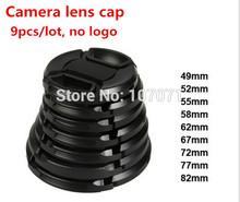 Len Caps 9pcs Camera lens cap lens for nikon canon 49mm 52mm 55mm 58mm 62mm 67mm 72mm 77mm 82mm