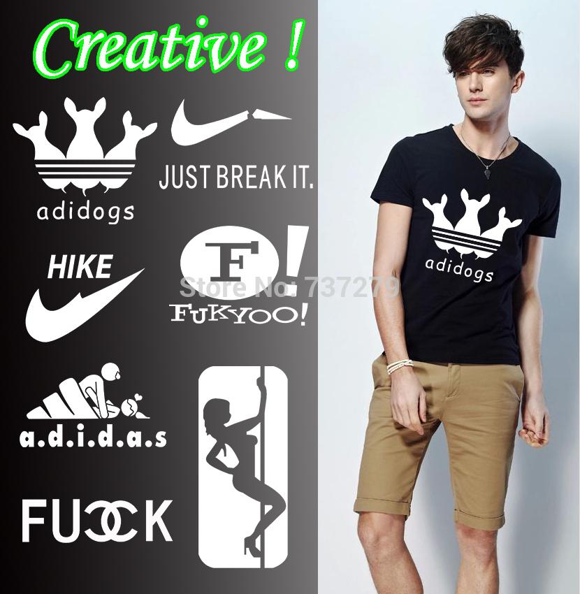 Creative Brand Logo Tshirts Men Shirts Funny T-shirt Fashion Short Tee Men's Camisetas Casual Shirts ACDC Man Clothing(China (Mainland))