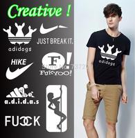 Creative Brand Logo Tshirts Men Shirts Funny T-shirt Fashion Short Tee Men's Camisetas Casual Shirts ACDC Man Clothing