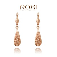 Wholesale ROXI Fashion Accessories Jewelry Gold Plated Austria Crystal with SWA Elements  Cutout Stud Earrings for Women