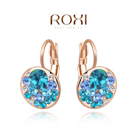 Wholesale ROXI Fashion Accessories Jewelry Gold Austria Crystal with SWA Element CZ Diamond Earrings for Women